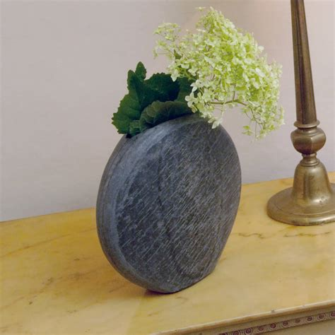 Slate Vase by Abalone Solid Slate Vase By Foras Notonthehighstreet