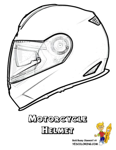 free a bike helmet coloring pages