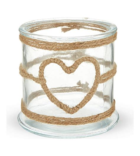 rope candle holders for summer small rope wrapped glass candle holder selfridges com
