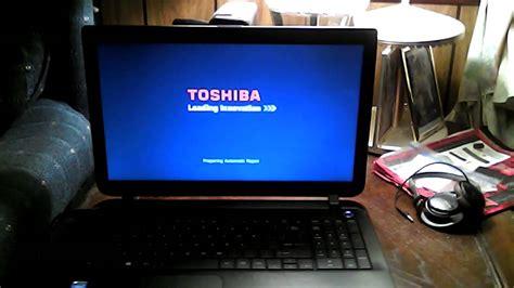 toshiba satellite black screen  death windows