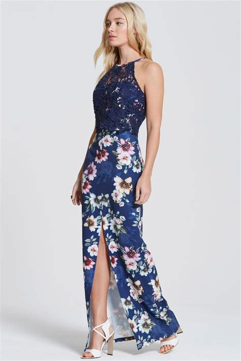 Blomming Maxi paper dolls navy floral bloom print maxi dress paper dolls from uk