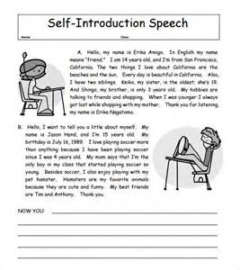 Exle Of Speech Essay Introduction by Sle Self Introduction Speech Exles 6 Documents In Pdf