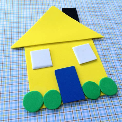 the craft house little family fun shape house educational craft