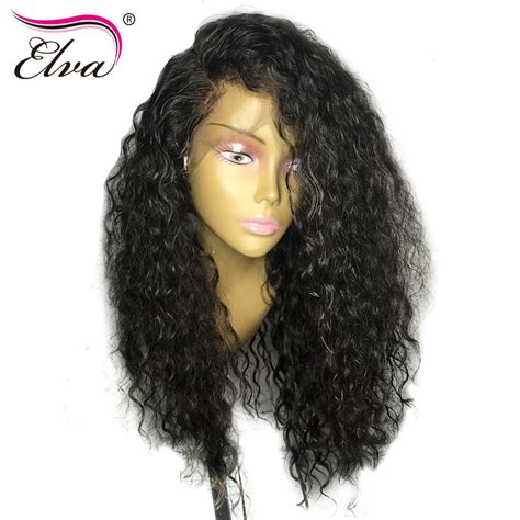 why is my hair curly in front and straight in back elva hair curly lace front human hair wigs for black women