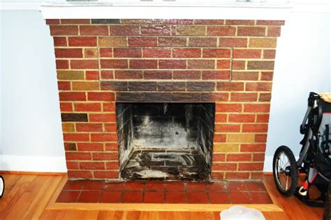 Re Brick Fireplace by Project Stay At Home Bye Bye Brick Fireplace