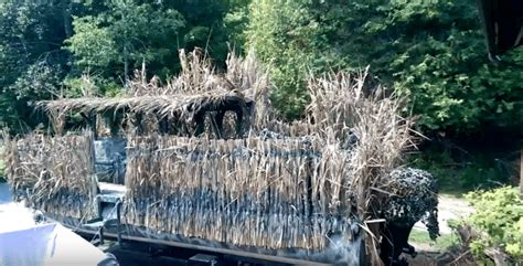 duck blind boat hide diy turn your pontoon boat into a duck hunting blind
