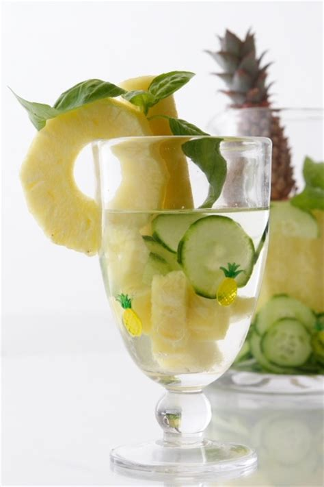 Pineapple And Cucumber Detox by Pineapple Basil Cucumber Spa Water A Way To