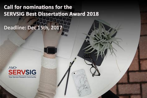 best dissertation award call for nominations for the servsig best dissertation