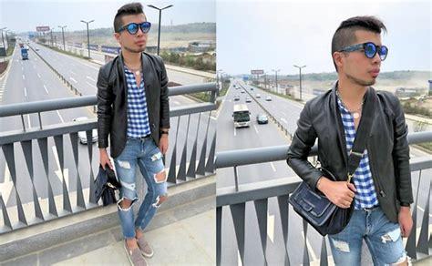 Zara Ripped Bangkok mingboy hwang zara checks shirt zara ripped