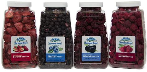 harmony house foods freeze dried berries mixed dried berries harmony house