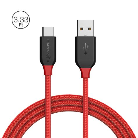 Promo Blitzwolf Bw Tc6 Usb Type C Braided Cable 1 8m blitzwolf 174 core bw tc5 3a usb type c braided charging data cable 3 33ft 1m with magic
