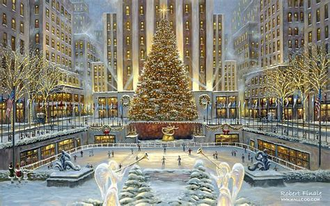 big christmas tree in new york city city of robert finale paintings wallpapers in new york robert finale