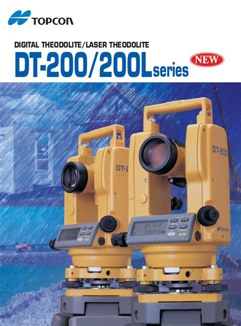 Topcon Dt 205l Digital Theodolite digital theodolite topcon dt 205l harga promo 085282731888