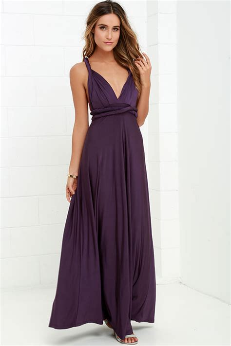 maxi infinity dress pretty maxi dress convertible dress purple dress