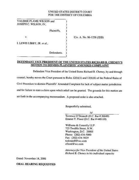 motion to dismiss template file defendant cheney s motion to dismiss pdf wikimedia