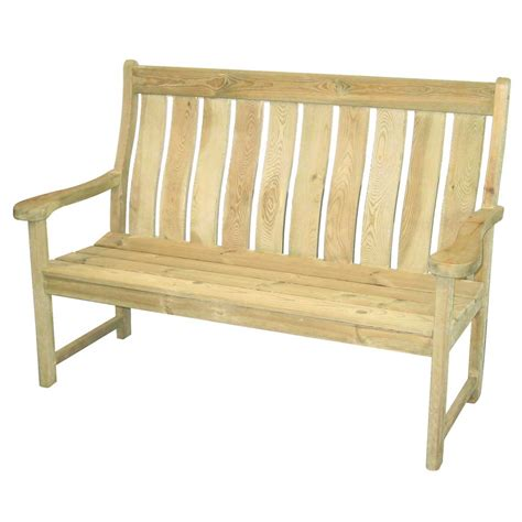 high bench alexander rose pine farmers high back bench