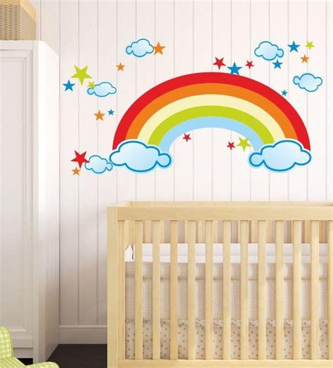 kinderzimmer wandgestaltung himmel die besten 25 regenbogen himmel ideen auf