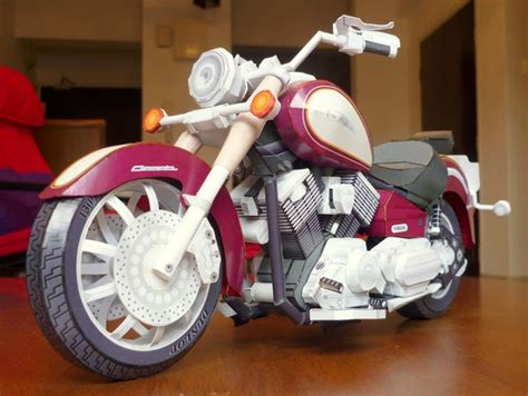 Yamaha Papercraft Motorcycle - 3d scale paper craft models by atamjeet singh bawa