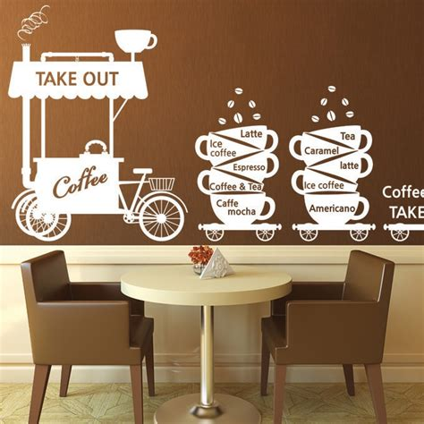 New Arrival Coffee Shop Wall Stickers Coffee The