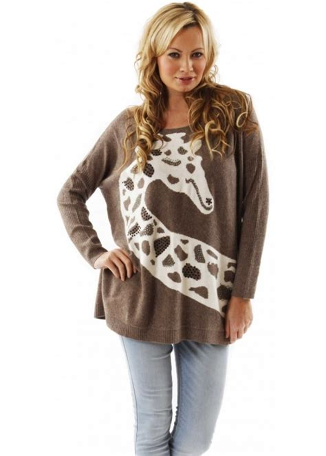 Girafe Jumper s designer knitwear designer jumper desirable giraffe jumper