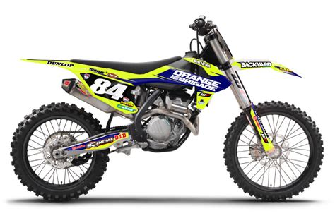 dekor ktm exc ktm flo yellow modified blue backyard design