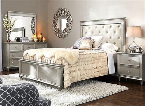 tiffany  pc king bedroom set silver raymour flanigan