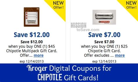 Where Can I Buy A Chipotle Gift Card - kroger stack gift card digital coupons with 4x fuel