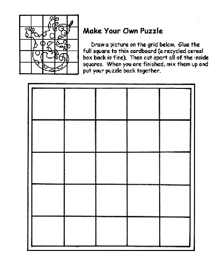 make your own puzzle coloring page crayola com