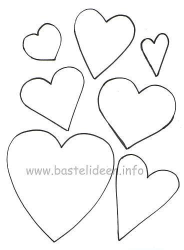 Kostenlose Vorlage Herz Kostenlose Bastelvorlagen Herzen