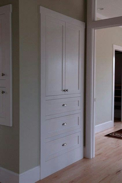 clean simple alternative  linen closet great