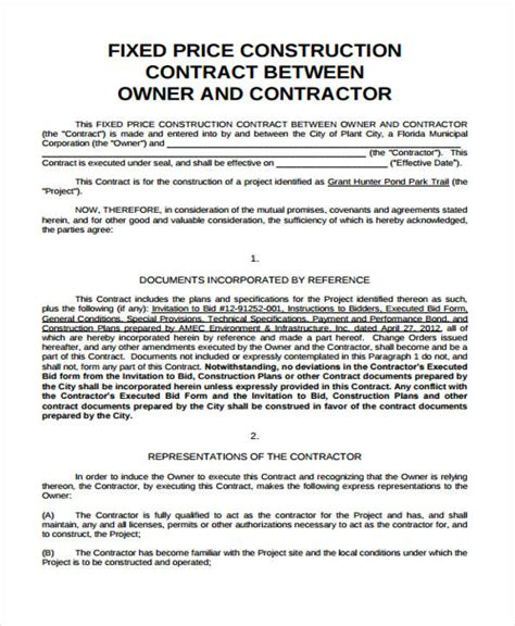 25 Contract Agreement Forms In Pdf Pricing Contract Template