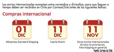 consejos de correos de chile para compras navide 241 as en