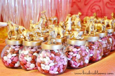 baby pink bathroom diy gold animal jar party favors brie brie blooms