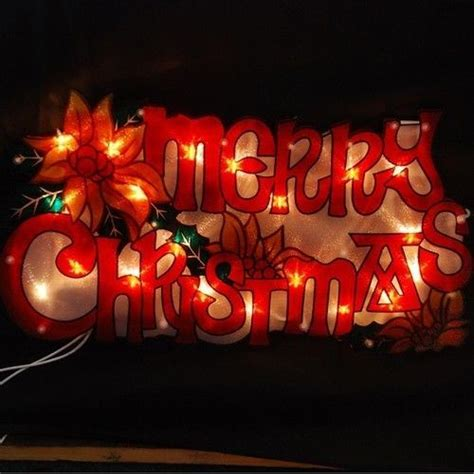 metallic light up christmas xmas signs santa stop here