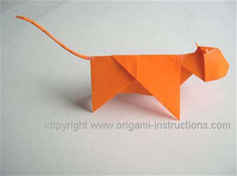 How To Make An Origami Tiger Step By Step - zodiac origami tiger folding how to
