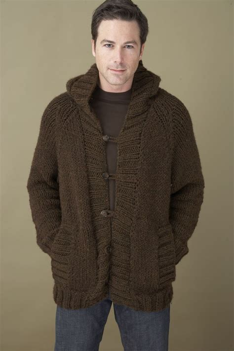 crochet pattern mens jumper saturday morning hoodie in lion brand wool ease chunky