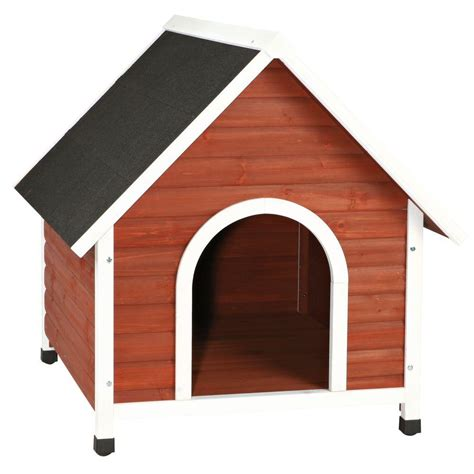 dog house 2 trixie nantucket large dog house in brown white 39474 the home depot