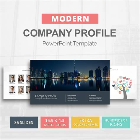 Company Profile Powerpoint Template Presentation Templates Slideson Company Profile Template Powerpoint