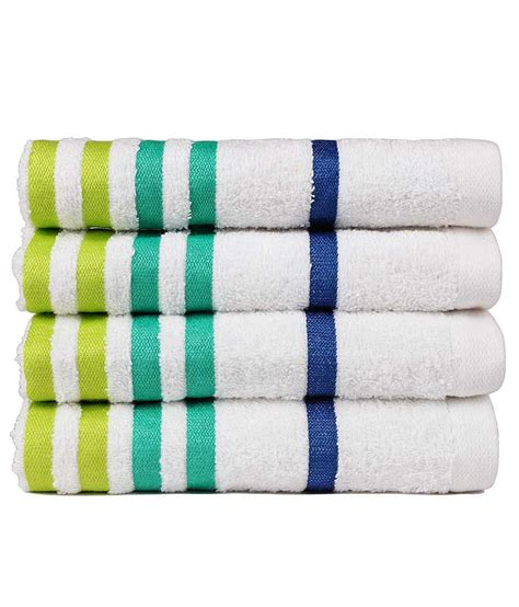 casa copenaghen casa copenhagen set of 4 cotton towel white buy
