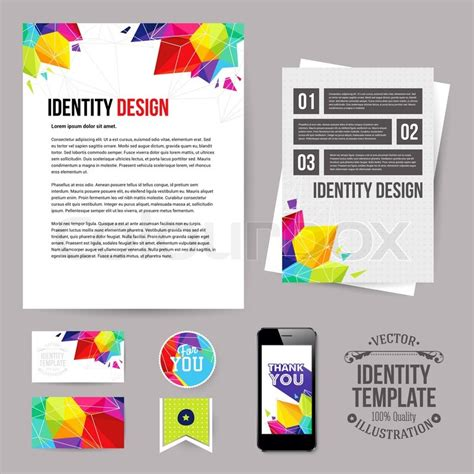 design leaflets app identity design for your business geometric style set of