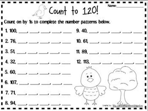 Counting To 120 Worksheets by Ordering Numbers Numbers And Counting To 120 On