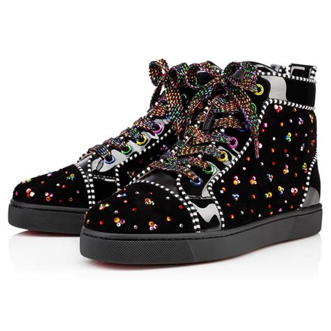 christian louboutin sneakers for christian louboutin louis s flat clair de lune black