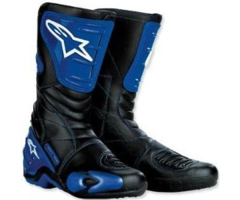 blue motorbike boots alpinestars smx 4 motorcycle boots blue