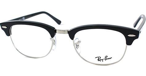Rayban Elastis Lensa ban clubmaster plastic eyeglasses in black lyst