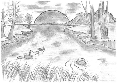 themes for pencil drawing pencil drawing themes for competition how to draw scenery