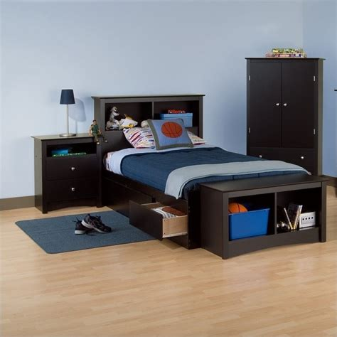 bookcase headboard bedroom sets black twin wood bookcase headboard 2 piece bedroom set