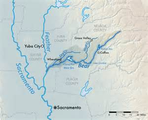 map of rivers in california river feather river