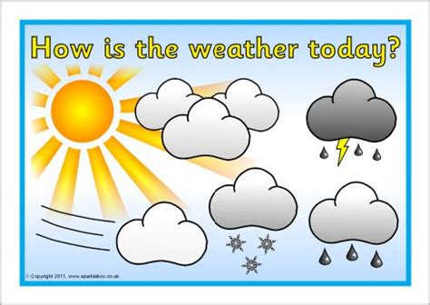 printable weather poster how is the weather today poster sb4415 sparklebox