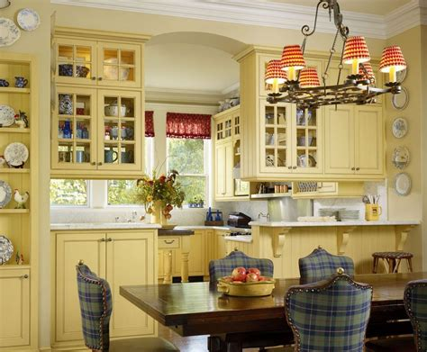 french country blue  yellow decor dining room farmhouse