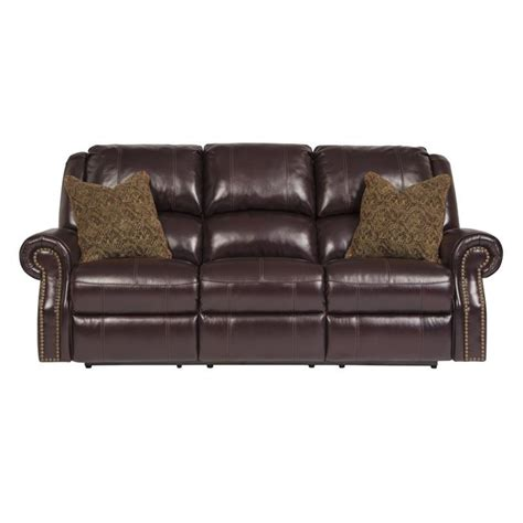 ashley furniture power reclining sofa reviews ashley walworth leather power reclining sofa in
